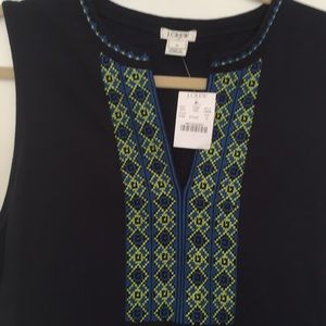 Sleeveless  embroidered dress from J Crew Factory